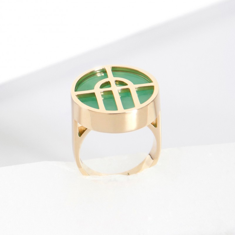 Arcature Ring / Chrysoprase